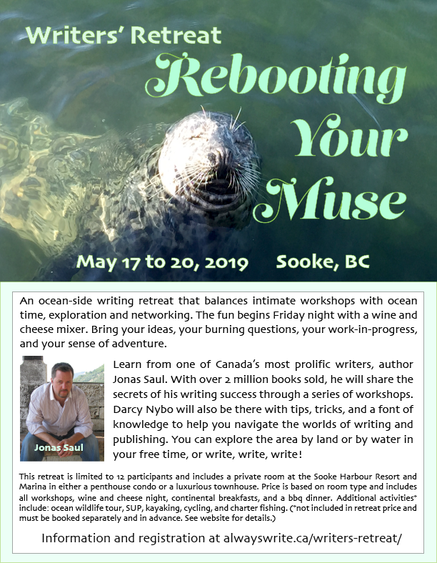 Rebooting Your Muse - Writers Retreat - Sooke, BC May 2019